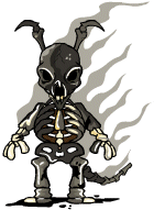 Burned Skeleton