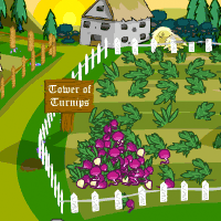 Tower of Turnips was located on Meri Acres farm, within Meridell