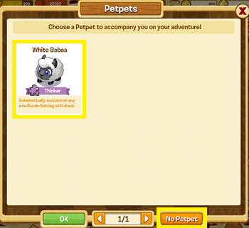 One of the available Petpets.